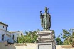 Monument à Ioan Paul II à Jerez de la Frontera, Espagne Photo stock