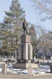 Monument à Lénine à la place de révolution dans la ville de Vologda, Russie Photo libre de droits