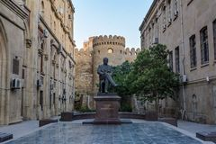 Monument à l'académicien Yusif Mamedaliyev Photographie stock
