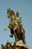 Monument à l'empereur Nicholas I près de la cathédrale d'Isaac de saint, St Petersburg, Russie photographie stock libre de droits