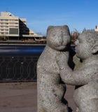 Monument à l'enfant et au chat Photo stock