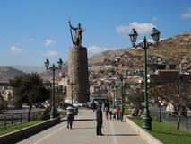 Monument à l'Inca, Cusco, Pérou photographie stock libre de droits