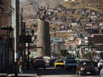 Monument à l'Inca, Cusco, Pérou image libre de droits