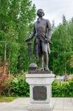 Monument à l'inventeur russe Ivan Polzunov (1728-1766) Photographie stock libre de droits