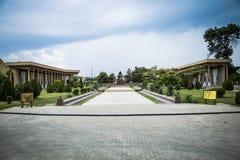 Monument à la mère s'affligeante, parc récréationnel Boukhara de Samanids Photos libres de droits