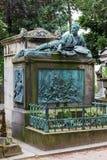 Monument à la tombe du ` s de Theodore Gericault dans le ceme de Pere Lachaise image libre de droits
