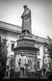 Monument à Leonardo Da Vinci photos libres de droits