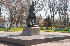 Monument à Mikhail Lermontov au centre de la ville de Taman Photographie stock