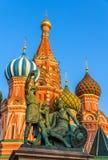 Monument à Minin et à Pozharsky à Moscou Image libre de droits
