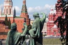 Monument à Minin et à Pozharsky Image libre de droits
