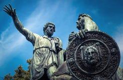 Monument à Minin et à Pozharsky sur la place rouge, Moscou image libre de droits