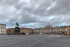 Monument à Nicholas I - St Petersbourg, Russie image libre de droits