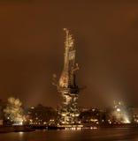 Monument à Peter I sur le Moscou-fleuve Photos libres de droits