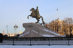 Monument à Peter le grand à St Petersburg Image stock