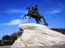 Monument à Peter -1, Pétersbourg image libre de droits