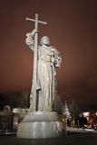 Monument à prince Vladimir le grand à Moscou Image libre de droits