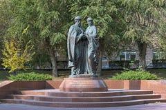Monument à St Peter et à St Fevronia de Murom à Volgograd, Russie Photographie stock libre de droits
