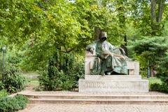 Monument à un anonimus en parc Varosliget, Budapest images libres de droits