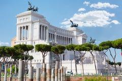 Monument à Vittorio Emanuele II photos stock