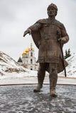 Monument à Yuri Dolgoruky, Dmitrov, Russie images libres de droits
