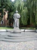 Monument à Yuri Drohobych dans la ville de Drogobych Photos stock