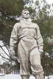 Monument à Yuri Gagarin sur l'avenue pionnière dans la ville d'Anapa Photo libre de droits