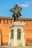 Monument équestre à Dmitry Donskoy dans Kolomna, région de Moscou, Russie images libres de droits