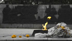 Monument éternel de flamme images stock