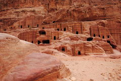 Monument 1 d'architecture dans PETRA, Iordania Image stock