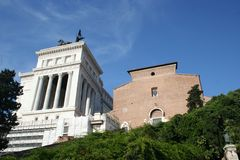 The monument. Rome-the monument vitorian (exterior Stock Photos