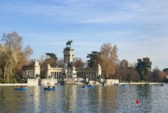 Monument. To Alfonso XII of Spain, Madrid, Retiro park Royalty Free Stock Image
