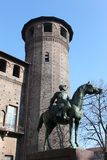 Monument. Piazza Castle in Turin - Italy Stock Photography