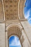 Monument. The Triumphal Arch (Arc de Triomphe de l'Etoile) on Place Charles de Gaulle, one of the most famous monuments in Paris, France Stock Photos