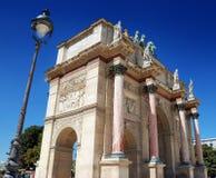 Monument. Arc de Triomphe du Carroussel Near the Louvre Museum in Paris, France Stock Image