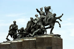Monument. To the outstanding figure of revolution and civil war in Russia to Vasily Chapaevu Stock Images