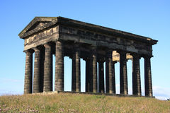 Monument. Penshaw Monument in Sunderland, Tyne & Wear, Northeast England.  A folly on a hill by the banks of the River Wear. Designed by John and Benjamin Green Stock Photo