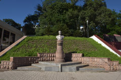 Monument aan Admiraal van de Vloot NG Kuznetsov van Sovjetunie, royalty-vrije stock foto's