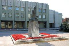 Monument aan Algemene A Brusilov St Petersburg stock foto's