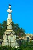 Monument aan Aloisio Pisani, Floriana, Malta Royalty-vrije Stock Foto's
