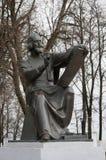 Monument aan Andrei Rublev, Vladimir, Gouden Ring van Rusland stock afbeeldingen