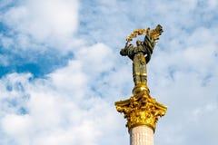 Monument aan Berehynia op het hoofdvierkant van Kiev Royalty-vrije Stock Afbeelding