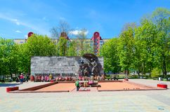 Monument aan Bevrijders van Polotsk, Polotsk, Wit-Rusland royalty-vrije stock foto
