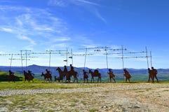 Monument aan Camino DE Santiago Royalty-vrije Stock Afbeeldingen