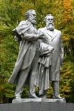 Monument aan Charles Marx en Fridrih Engels Royalty-vrije Stock Afbeeldingen