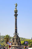 Monument aan Christopher Columbus in Barcelona Royalty-vrije Stock Foto