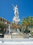 Monument aan Christopher Columbus, Santa Margherita Ligure, Italië Royalty-vrije Stock Foto