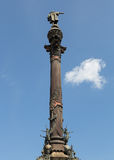 Monument aan Columbus in Barcelona royalty-vrije stock foto