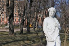 Monument aan Dante Alighieri stock afbeelding