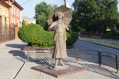 Monument aan de actrice Ranevskaya stock afbeeldingen