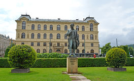 Monument aan de componist Antonin Dvorak (1841-1904) Tsjechisch rep stock afbeeldingen